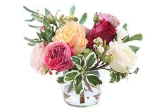 WINWARD Rose in Glass  --  265.00 retail  --  11x11x10
