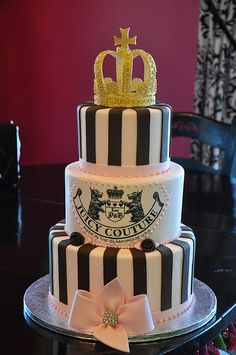 Juicy Couture Cake. OH EM GEE why did I not think of thissssss!!! ♡♡♡♡♡♡♡