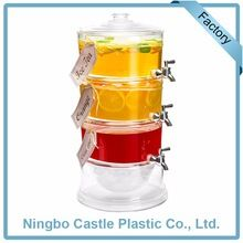 Custom Multi Drink Hot And Cold Fresh Juice Tower Ice Beverage Dispenser