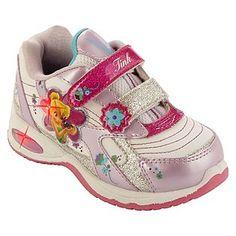 Disney- -Toddler Girls Fairies Light Up Athletic Shoe - Pink