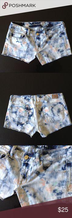 AMERICAN  EAGLE CUT OFFS Flower patterned cut off jean shorts American Eagle Outfitters Shorts