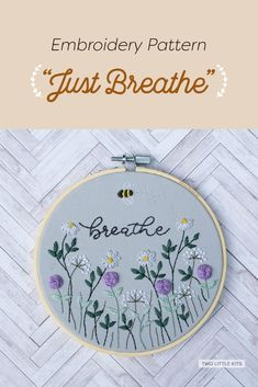A free floral pattern for an embroidery stitch-along running from September 7th, 2021. Beginner-friendly and great to learn new, easy stitches!