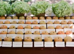fruit snack with your place card!