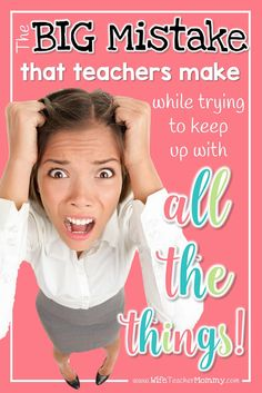 Teachers have a lot