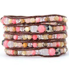 Soft Pink Natural Wrap Bracelet – Florence Scovel