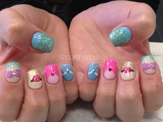 Disney Acrylic Nails Unique Best Ideas On Mermaid Nail - ArtToNail Nail Ideas nail ideas mermaid Princess Nail Designs, Disney Nail Designs, Disney Princess Nails, Fall Nail Designs, Princess Beauty, Disney Acrylic Nails, Disney Nails, Disney Christmas Nails, Holiday Nails