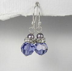 Wisteria Purple Earrings, Mauve Pearl Earrings, Swarovski Mauve Light Purple Pearl Earrings, Light Purple Wedding Earrings, Bridesmaid Gift