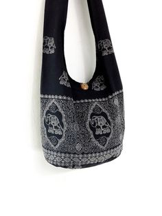 7cb3effc96d4 Women bag Handbags Cotton bag Elephant bag Hippie bag Hobo bag Boho bag  Shoulder bag Sling bag Messenger bag Tote Crossbody bag Purse Black