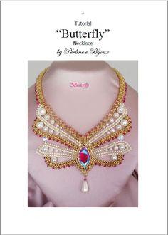 Tutorial Butterfly necklace / collana от PerlineeBijoux на Etsy