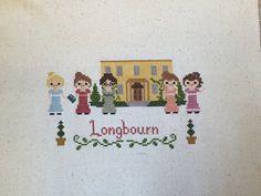 Longbourn Cross Stitch: Jane Austen Pride and Prejudice inspired PDF Pattern-Instant Download