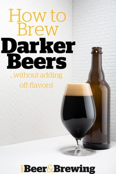 Homebrewing recipes Brewing Darker Beers Without Adding Off-Flavors Beer Brewing Kits, Brewing Recipes, Homebrew Recipes, Beer Recipes, Coffee Recipes, Make Beer At Home, Home Brewing Equipment, Home Brewery, Beer Pairing