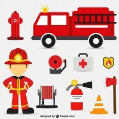 Fire intervention vector set