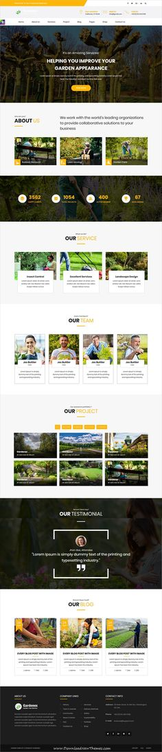 Gardenex is a clean and modern design 2in1 responsive bootstrap #HTML template for #garden and #landscaping service #website to download & live preview click on image or Visit