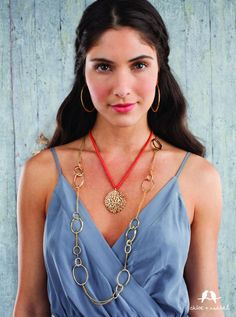 #chloeandisabel #corallyyours #gold #coral #necklaces #earrings
