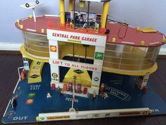 "Rare Vintage Shell Service Station Central Park Garage Wooden Toy 24""x18"" 14"" | eBay"