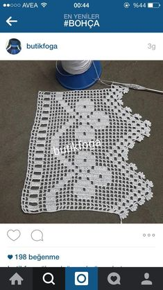 This post was discovered by Büşra Aydın. Discover (and save!) your own Posts on Unirazi. Filet Crochet, Crochet Quilt, Crochet Borders, Crochet Trim, Crochet Lace, Crochet Stitches, Embroidery Flowers Pattern, Doily Patterns, Crochet Patterns