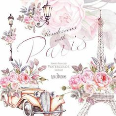 This Paris Watercolor Clipart France Eiffel tower France Roses is just one of the custom, handmade pieces you'll find in our collage sheets shops. Decoupage Vintage, Decoupage Paper, Tour Efel, France Eiffel Tower, Eiffel Towers, Paris Wallpaper, Clip Art, Paris Theme, Retro Cars