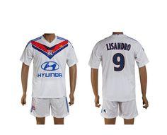 Lyon Maillot football Domicile 13/14 Adidas Collection(9 Lisandro) #maillotdefoot