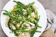 Varm potatissallad med sparris & salladslök | Fridas Food