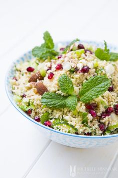"A quick and easy, simple couscous salad with a sweet and sour pomegranate twist. A perfectly refreshing dish for hot and humid days. It is hard to imagine but a few years back almost no one knew what Couscous was in the western world. Now this ingredient is taking over the ""health world"" and making..."