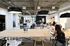 Interior design firm Paperspace is behind this sleek Sathorn co-working space. Industrial Interior Design, Office Interior Design, Office Interiors, Interior Ideas, Workspace Design, Office Workspace, Commercial Interior Design, Commercial Interiors, Office Ceiling