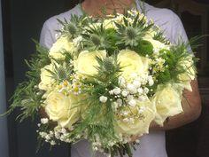Scottish themed brides bouquet Bride Bouquets, Brides, Floral Wreath, Barn, Wreaths, Flowers, Decor, Bridal Bouquets, Floral Crown