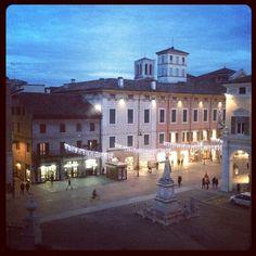 #fenatale2013 Piazza Savonarola vista dal Castello Estense - #Ferrara Instagram, foto di @Delizia Estense