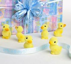 mini yellow ducklings