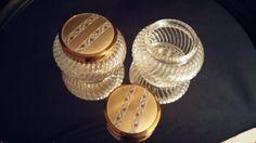 2 Antique Glass Vanity Jar Jewelry Casket by frankiesfrontdoor, $42.00