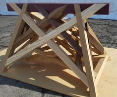 French Trestle 'The Canadian' - Treteau a Devers dit 'Le Canadien' Sawhorse Plans, Picnic Table, Woodworking, French, Construction, Furniture, Heart, Awesome, Home Decor