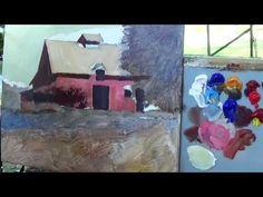 The Sandburg Barn - Plein Air Painting by Roger Bansemer - YouTube