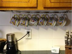 under cabinet coffee mug rack 1000 images about coffee mug storage on the 27464
