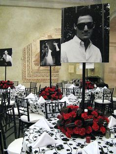 What's black, and white, and red all over? This 50 th birthday party