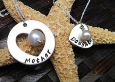 Mother daughter pearl necklace:)