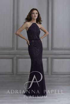 40134 beaded mesh blouson Adrianna Papell Platinum Marie Antoinette Bridal  Salon Derby 4023ffdf9