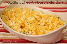 Noodle Bake: An Easy Side Dish for any Weeknight