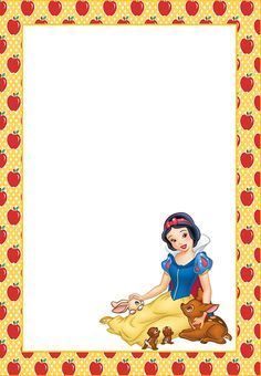 Quick and easy free crafts for all the family to enjoy ,, Free links to all the crafts that show you how to make them Disney Princess Snow White, Snow White Disney, Disney Princess Frozen, Printable Frames, Printable Pictures, Snow White Invitations, Boarders And Frames, Snow Images, Printable Recipe Cards