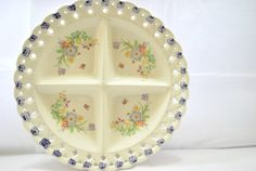 Divided Large Plate 13 inches Round  Easter by Dupasseaupresent