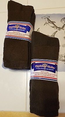 BROWN~MENS SOCKS 3 PAIRS~DIABETIC~STRETCH~10-13 OR 13-15~GIFTBAGGED~FOR HIM~