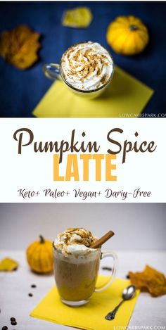 Healthy Keto Pumpkin Spice Latte - Vegan & Dairy-Free - - Keto Pumpkins Spice Latte is a warm drink perfect for those fall cold days. This drink is very healthy, creamy low in carbs and sugar-free. It's also suitable for a vegan and paleo diet. Pumpkin Spice Coffee, Spiced Coffee, Keto Friendly Desserts, Low Carb Desserts, Keto Approved Foods, Keto Diet Benefits, Starting Keto Diet, Keto Drink, Cupcakes