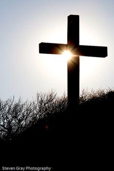 Pensacola Beach Cross at Sunset
