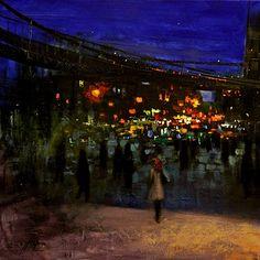 Brooklyn Bridge by Chin H. Shin - Oil