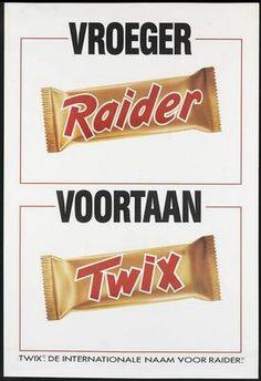 Vroeger Raider, voortaan Twix.  1991