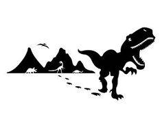 Image result for cartoon silhouette dinosaur