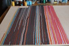 """#finearts, at work: """"1985 / 2015 - color composition made of lines"""", 2015, #pixelism - ca. 120.000 painted #pixels. 80 x 60 cm, ■ = 2 x 2 mm (31.50"""" x 23.62"""", ■ = 0.08"""" x 0.08""""). #visualarts, #acrylic, #colorcomposition, #atwork."""
