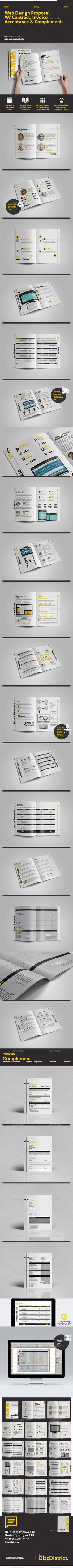 Web Design Proposal W/ Project Complement Template #design Download: http://graphicriver.net/item/web-design-proposal-w-project-complement/11460628?ref=ksioks