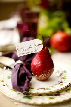 Pear Place Cards