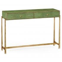 Jonathan Charles Shagreen Console Table - Gold