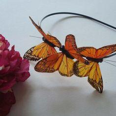 Oh, heavens, I wish I hadn't found this!    MARISSA  three monarch butterflies headband  bohemian by kaang, $20.00