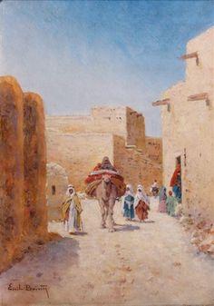 Oil Painting Abstract, Oil Paintings, Landscape Paintings, Arabian Art, Watercolor Pencils, Angel Art, North Africa, Miniature, Casablanca